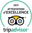 Certificat d'excellence Trip Advisor 2019
